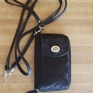 Fabric Crossbody Wallet / Wristlet NWOT